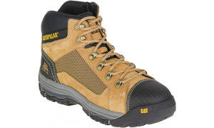 Boot Safety Cat Convex Mid Zip Side Honey (US Sizes)