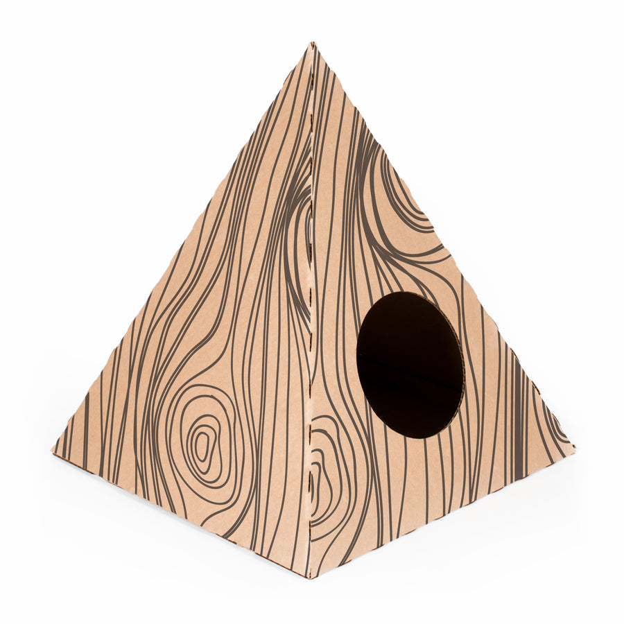 Poly Cat Home Cardboard Box Home Fun -timber