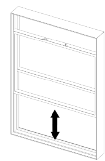 space in window to install thermo sash