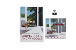 sliding doors and windows clamp lock with instruction booklet