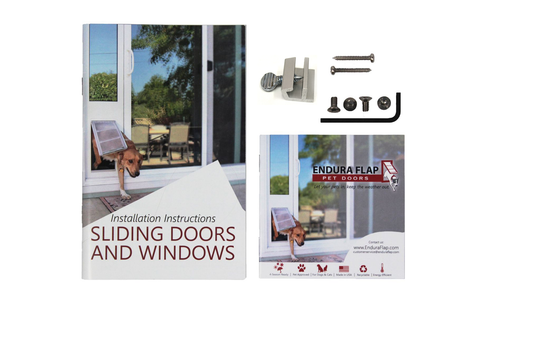 sliding doors and windows lock kit with clamp lock parts and instruction booklet