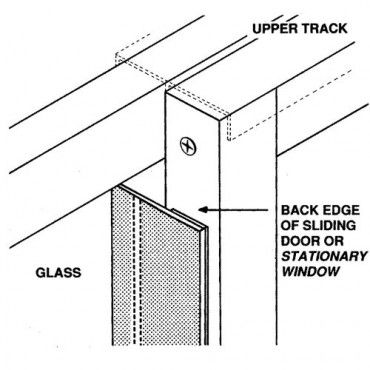 Where to install the Draft Stopper weather stripping on a Patio Door or Window Diagram | Wind Resistance