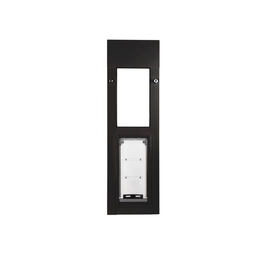 sliding window cat door fits into window frame