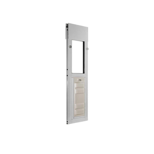 brushed aluminum endura flap cat door for horizontal windows