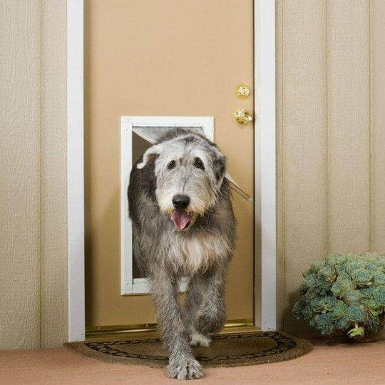 Size Extra Large flap - this size is great for dogs as big as the Irish Wolfhound.