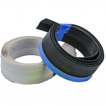 Draft Stopper Weatherstrip for Sliding Glass Doors are available in both White and Black Color Options