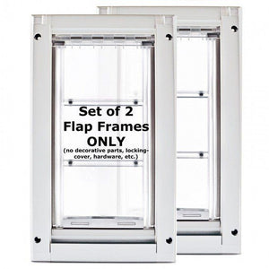 set of two flap frames for the endura flap kennel pet door