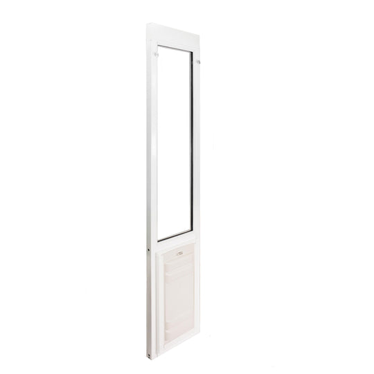 Endura extreme weather pet door with locking cover included.