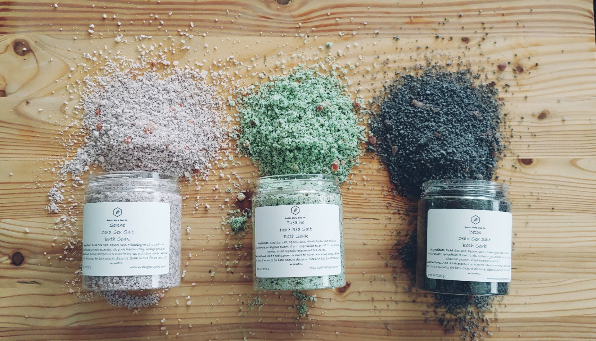 Dead Sea Salt Bath Soak Bundle