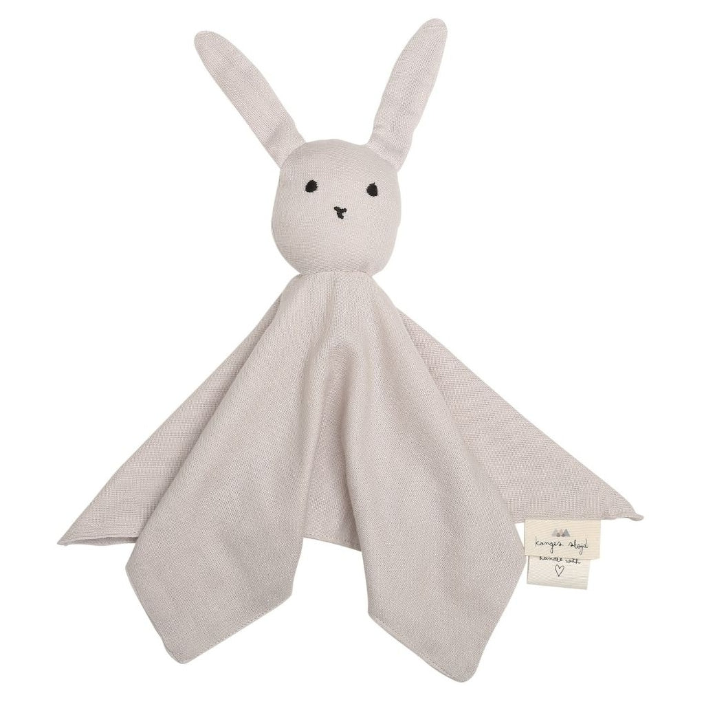 ORGANIC COTTON SLEEPY RABBIT COMFORTER Nimbus cloud