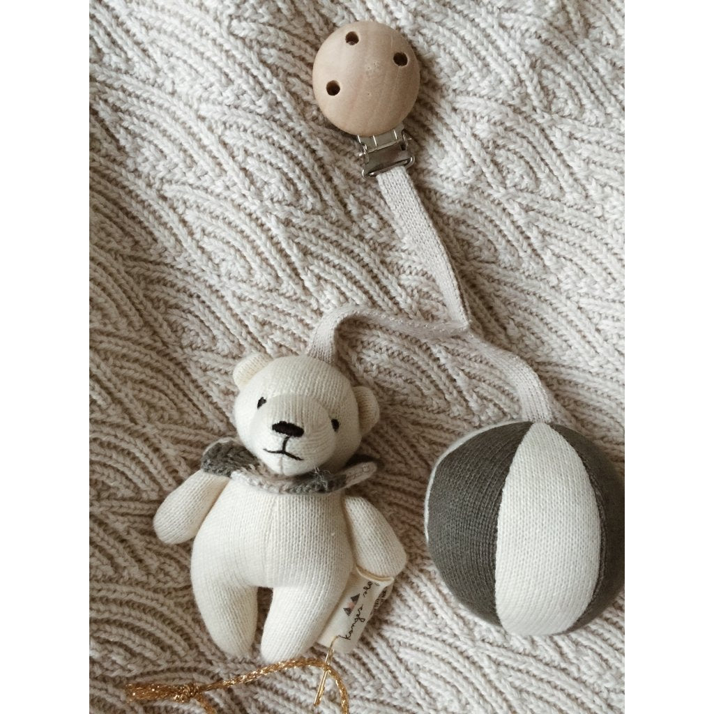 ORGANIC COTTON BEAR MOBILE TOY