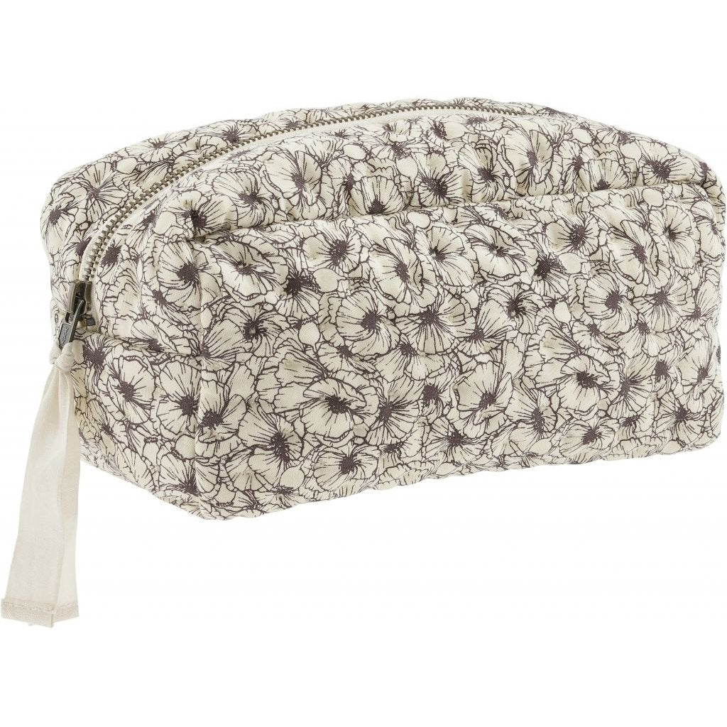ORGANIC COTTON QUILTED TOILETRY BAG Magnolia