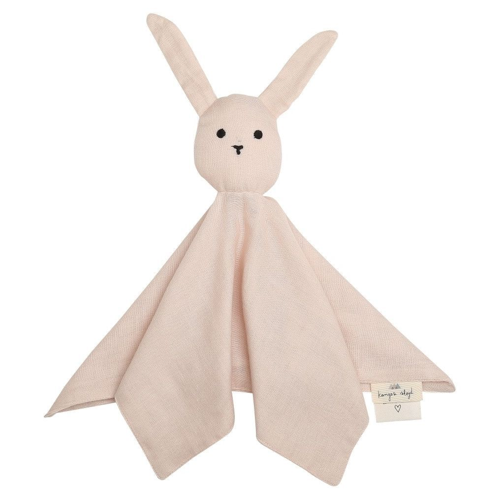 ORGANIC COTTON SLEEPY RABBIT COMFORTER Light rose