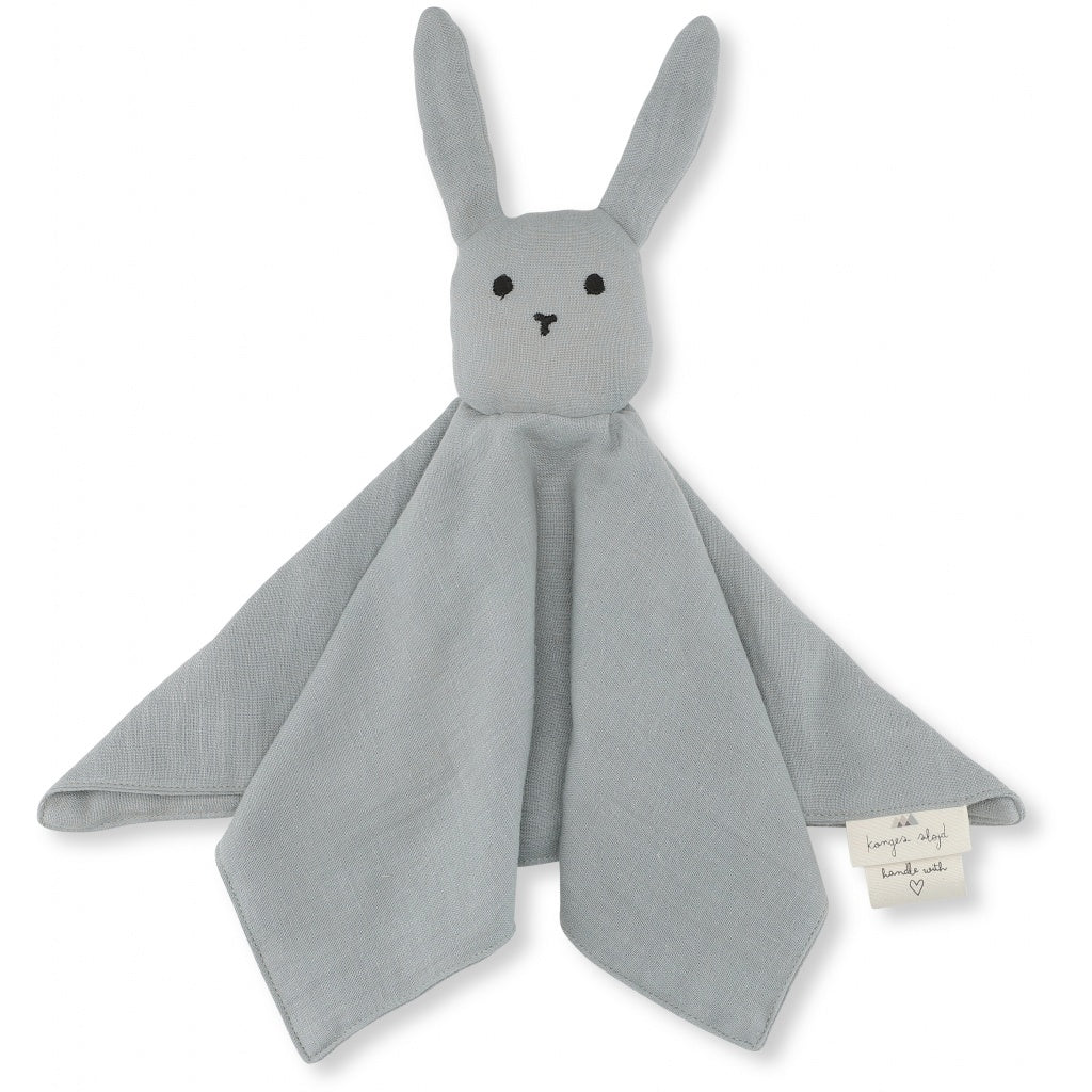 ORGANIC COTTON SLEEPY RABBIT COMFORTER French blue