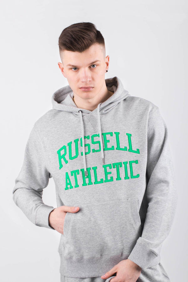 #00028  Russell Athletic одяг, блузка HOODY SWEATSHIRT 091 NEW GREY MARL