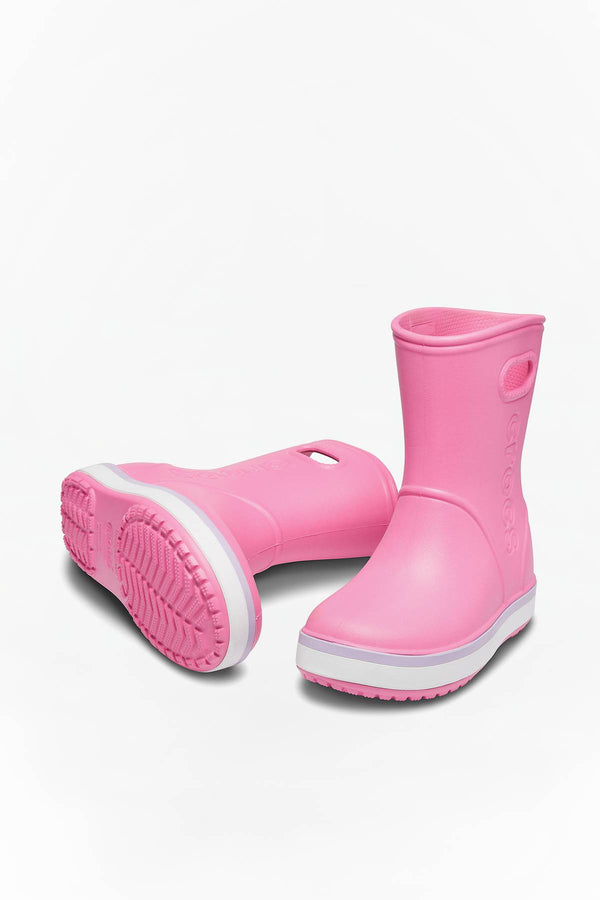 #00019  Crocs взуття, гумові чоботи CROCBAND RAIN BOOT KIDS 205827 PINK LEMONADE/LAVENDER