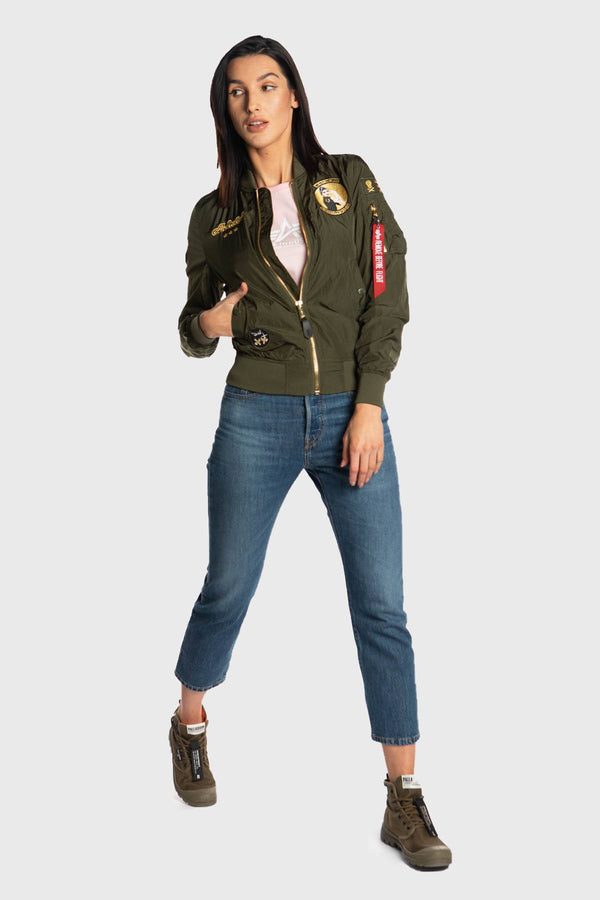 #00078  Alpha Industries одяг, куртка MA-1 MISSILEER WMN 257 DARK GREEN