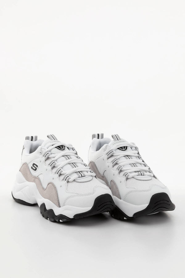 #00012  Skechers взуття, кросівки D'LITES 3.0 WLGY WHITE/LIGHT GREY