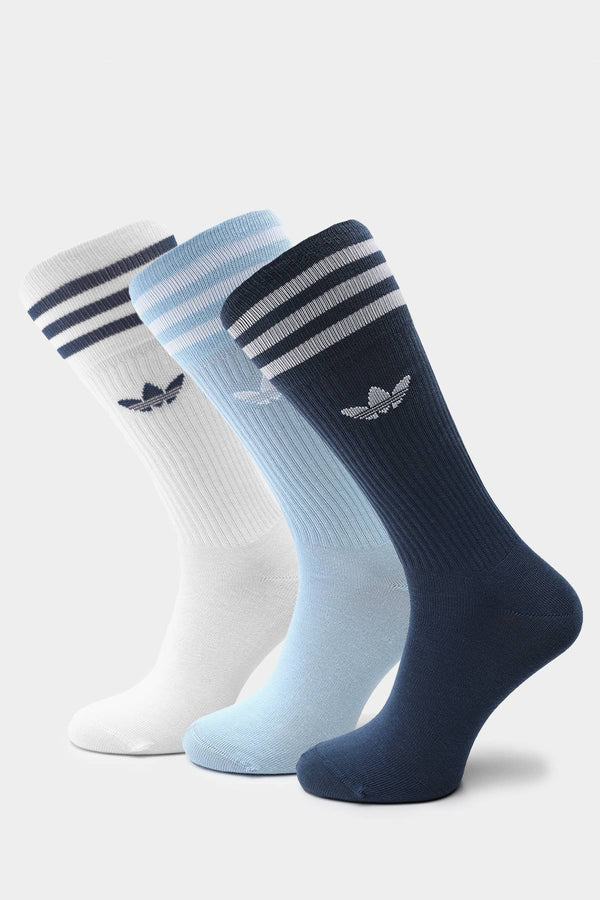 #00072  adidas панчохи SOLID CREW SOCK 624 NIGHT MARINE/CLEAR SKY/WHITE