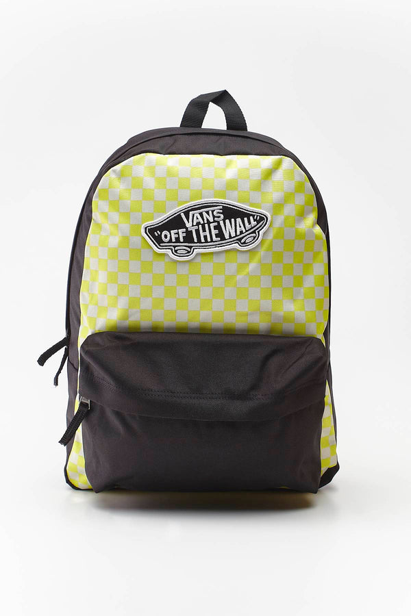 #00063  Vans сумки та рюкзаки, рюкзак REALM BACKPACK VD7 LEMON TONIC CHECKERBOARD
