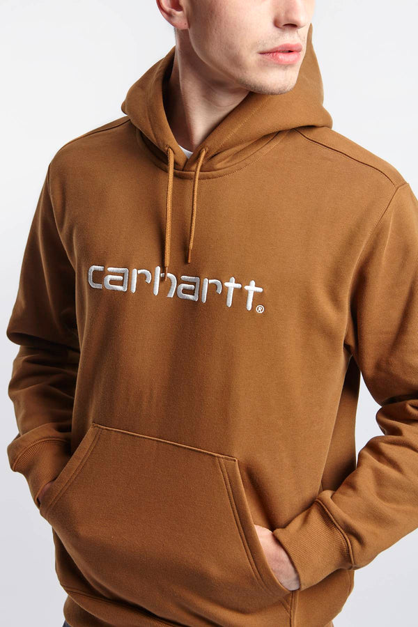 #00055  Carhartt WIP одяг, блузка HOODED SWEAT HZ90 BROWN/WHITE