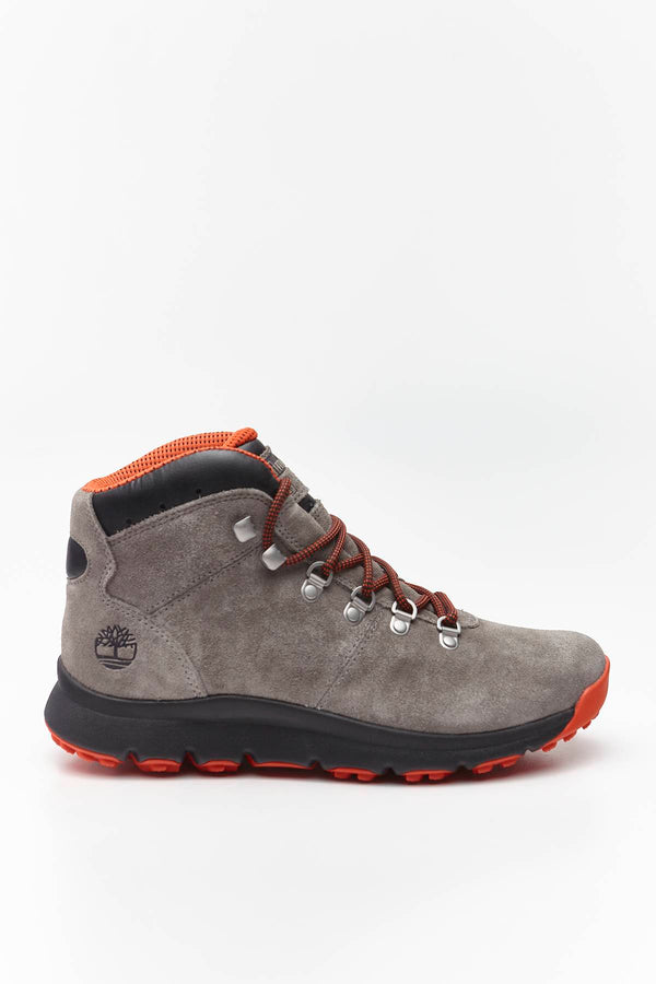 #00039  Timberland взуття, чоботи WORLD HIKER MID F49 MEDIUM GREY SUEDE