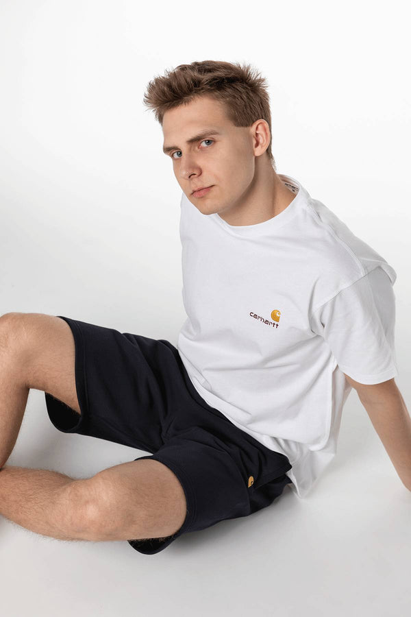 #00084  Carhartt WIP одяг, шорти CHASE SWEAT SHORT 1C90 DARK NAVY/GOLD