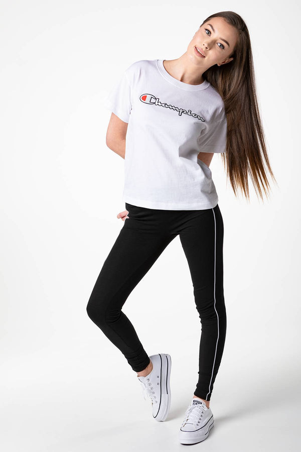 #00037  Champion футболка CREWNECK T-SHIRT WW001 WHITE