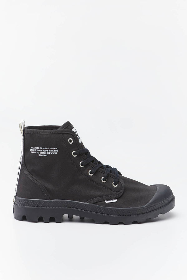 #00010  Palladium взуття, чоботи PAMPA HI DARE 002 BLACK/WHITE