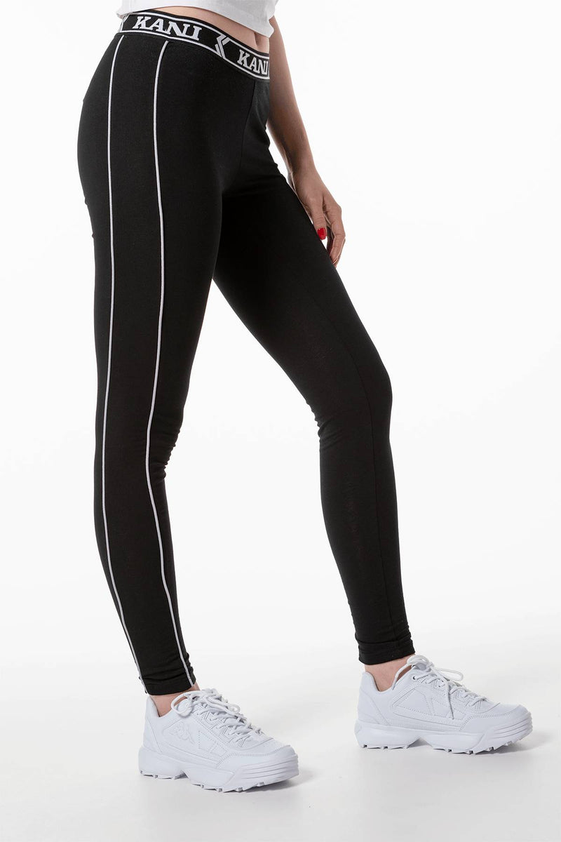 #00009  Karl Kani одяг, легінси TAPE LEGGINGS 207 BLACK/WHITE