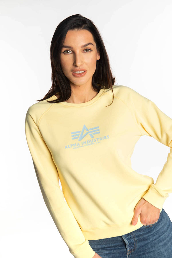 #00018  Alpha Industries одяг, блузка NEW BASIC SWEATER WMN 495 PASTEL YELLOW