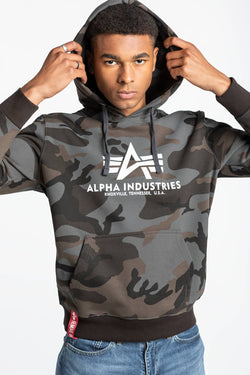 #00005  Alpha Industries одяг, блузка Basic Hoody Camo 178312C-125 CAMO/BLACK