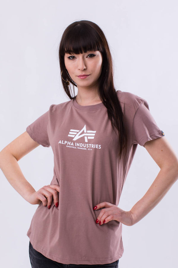 #00099  Alpha Industries футболка NEW BASIC T WMN 416 MAUVE