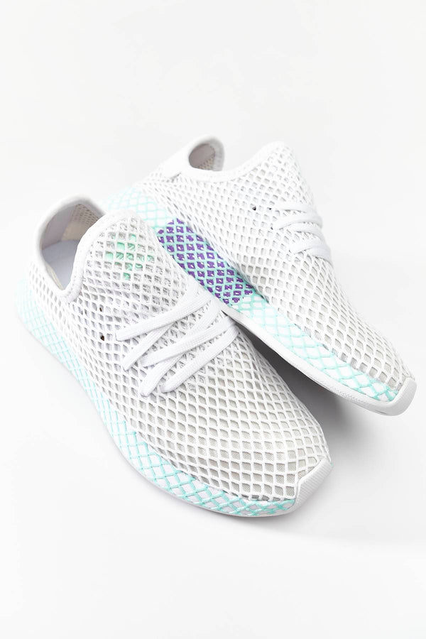 #00100  adidas взуття, кросівки DEERUPT RUNNER W FOOTWEAR WHITE/GREY ONE/CLEAR MINT