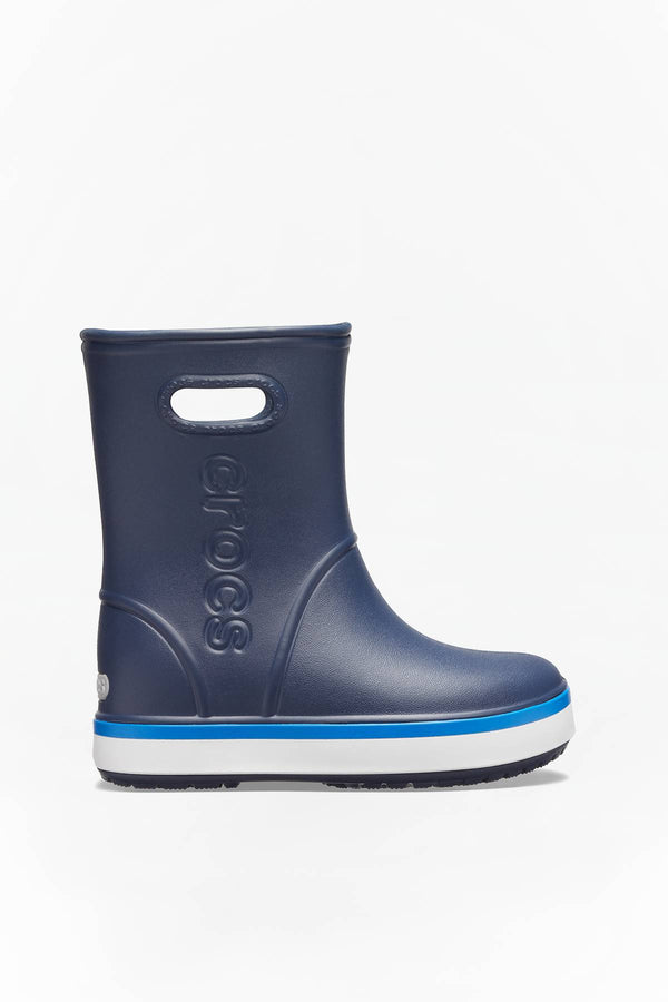 #00015  Crocs взуття, гумові чоботи CROCBAND RAIN BOOT KIDS 205827 NAVY/BRIGHT COBALT