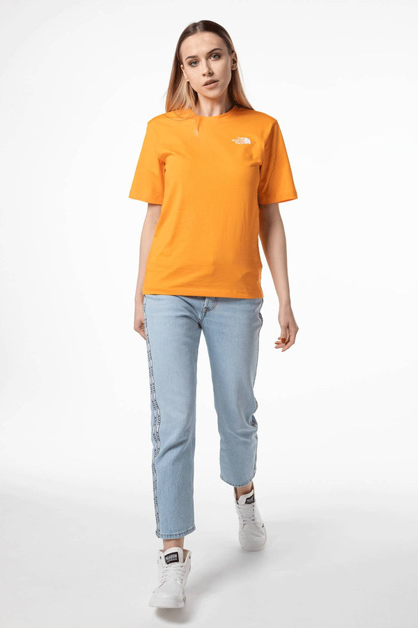 #00011  The North Face футболка W BOYFRIEND SIMPLE DOME ECL ORANGE