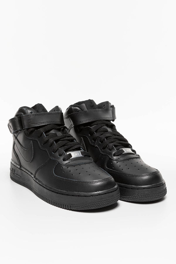 #00031  Nike взуття, кросівки NIKE AIR FORCE 1 MID 195 BLACK