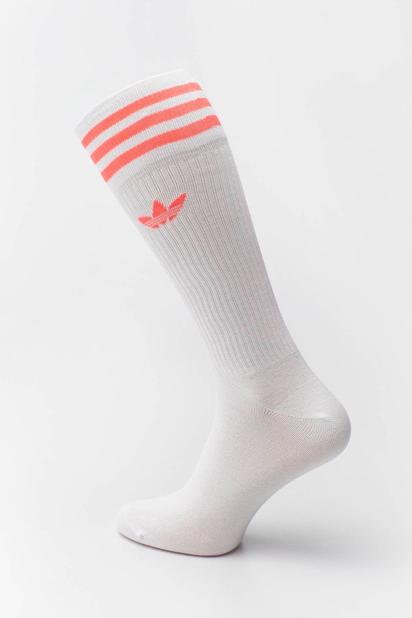 #00074  adidas панчохи SOLID CREW SOCK 360 COLLEGIATE BURGUNDY/SCARLET/WHITE