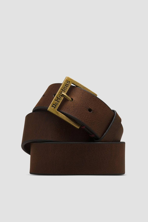 #00106  Dr.Martens аксесуари , ремінь GRIZZLY LEATHER BELT 201 DARK BROWN GRIZZLY