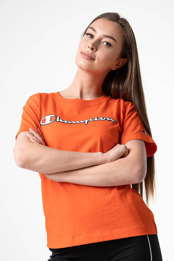 #00025  Champion футболка CREWNECK T-SHIRT OS014 ORANGE