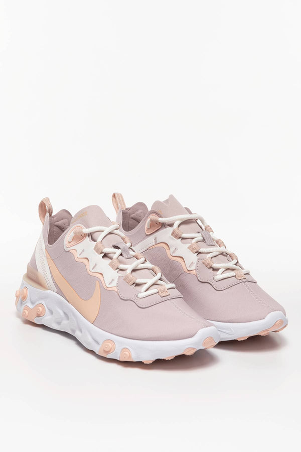 #00007  Nike взуття, кросівки W REACT ELEMENT 55 BQ2728-012 PLATINUM VIOLET/SCHIMMER