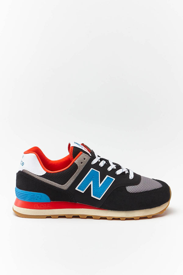 #00039  New Balance взуття, кросівки ML574SOV BLACK WITH NEO CLASSIC BLUE/NEBULA
