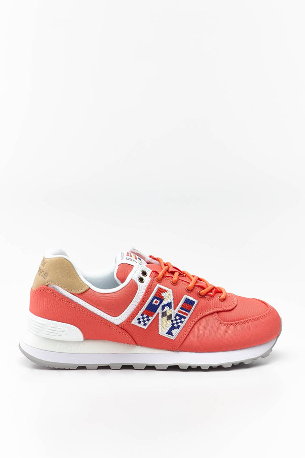 #00026  New Balance взуття, кросівки WL574SOF TORO RED WITH INCENSE