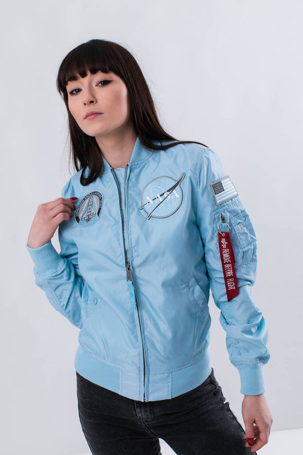 #00093  Alpha Industries одяг, куртка MA-1 TT NASA REVERSIBLE WMN 398 AIR BLUE