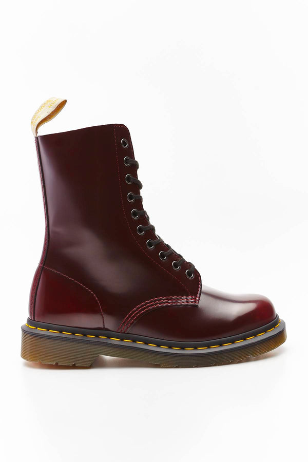 #00055  Dr.Martens взуття, чоботи VEGAN 1490 OXFORD BRUSH CHERRY RED CAMBRIDGE BRUSH