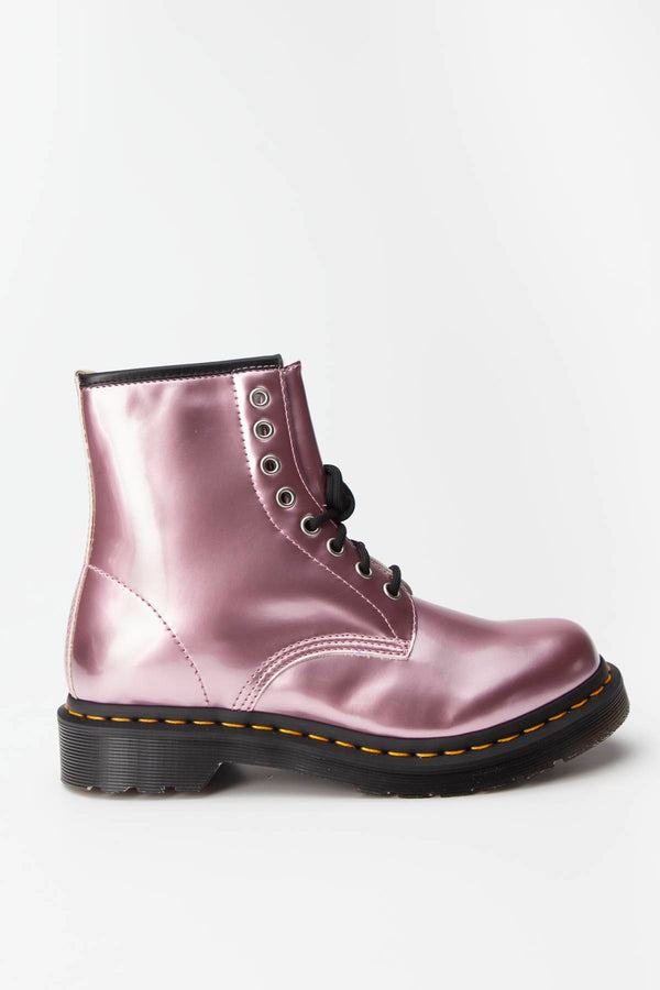 #00057  Dr.Martens взуття, чоботи VEGAN 1460 GOLDMIX PINK PONY GOLDMIX
