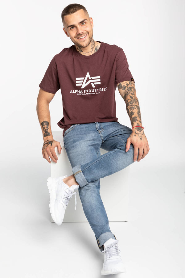 #00015  Alpha Industries футболка Basic T-Shirt 100501-21 DEEP MAROON