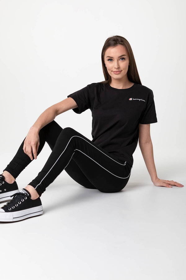 #00036  Champion футболка CREWNECK T-SHIRT KK001 BLACK