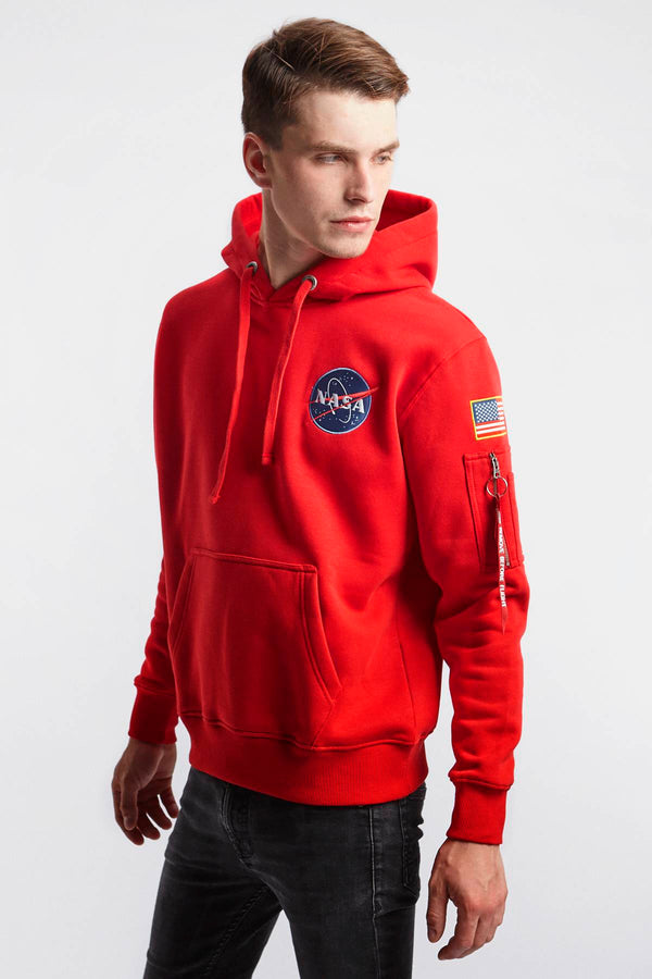 #00070  Alpha Industries одяг, блузка SPACE SHUTTLE HOODY 328 SPEED RED