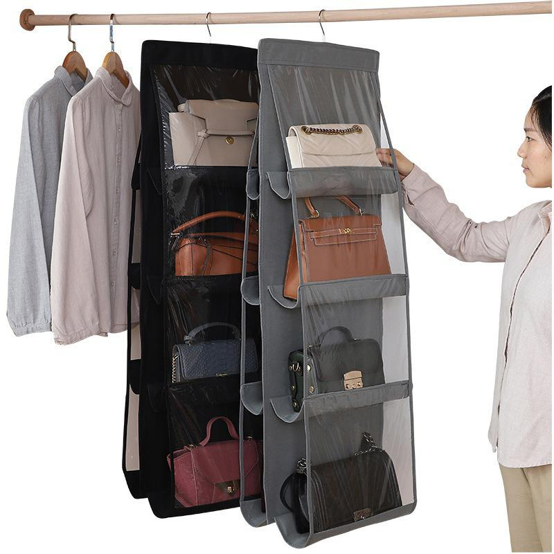 3 Layers Folding Hanging Large Handbag Purse Storage